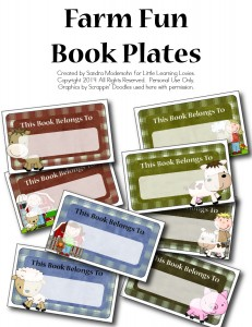 Farm Fun Book Plates