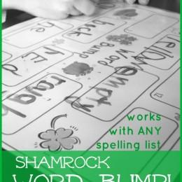 FREE Shamrock Sight Word Game: Word Bump