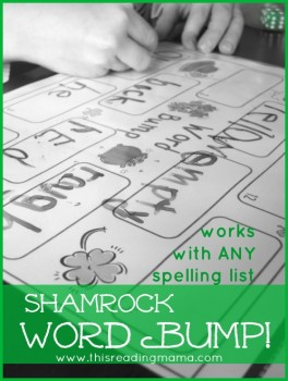 FREE Shamrock Sight Word Game: Word Bump