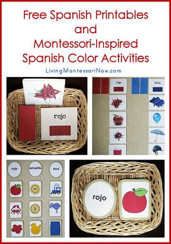 Free Spanish Printables and Monessori Activities