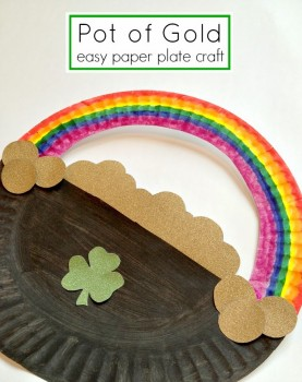 St. Patrick's Day: Free Pot of Gold Paper Plate Craft