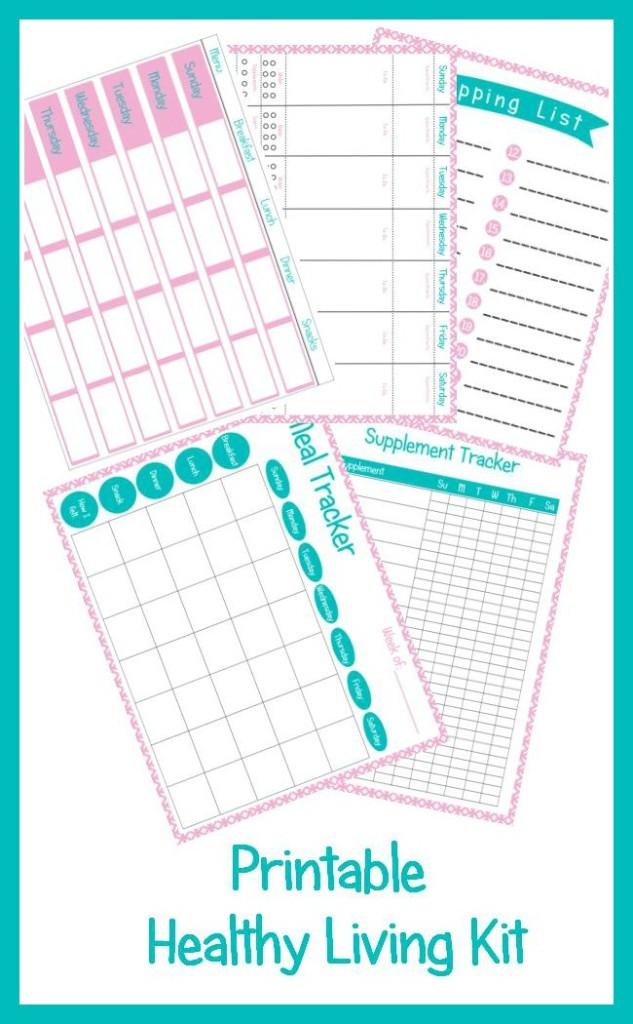 Printable Healthy Living Kit