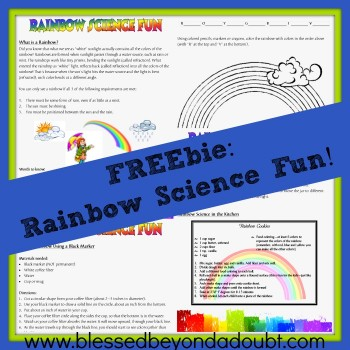 FREE Rainbow Science Fun
