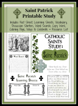 FREE Saint Patrick Printable Unit Study