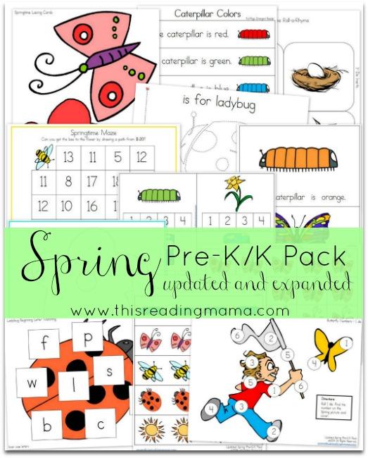 Spring PreK and K Pack