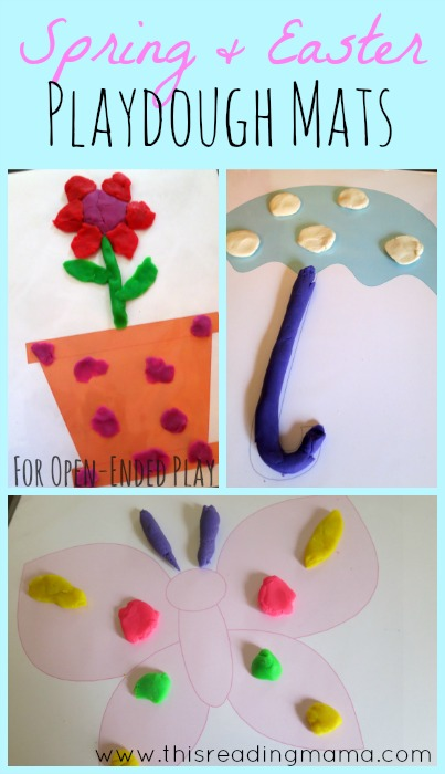 Spring and Easter Playdough mats