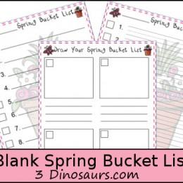 Spring Bucket Lists