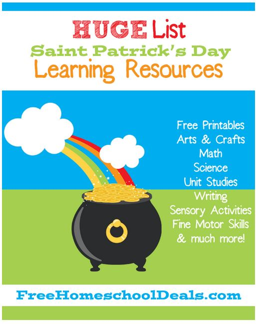HUGE List of FREE St. Patrick's Day Learning Resources!