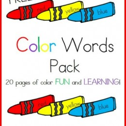 Free Download: Color Words Printable Worksheets Pack – 20 Pages!