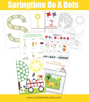 Free Spring Dot Marker Printables