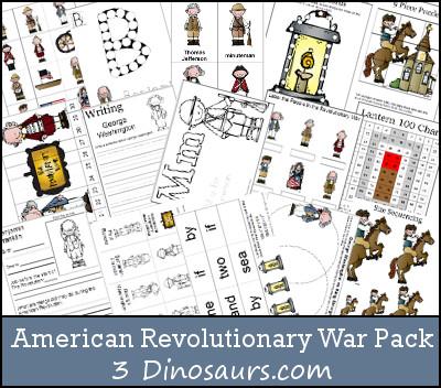 Free American Revolutionary War Printable Pack