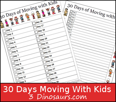 30 Days of Moving Printables