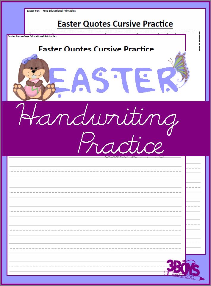 Easter Handwriting Practice
