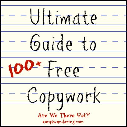 Free Printable Copywork