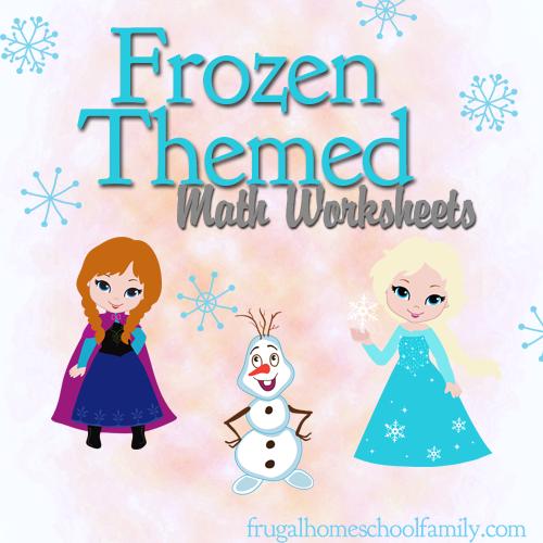 Frozen Themed Math Worksheets