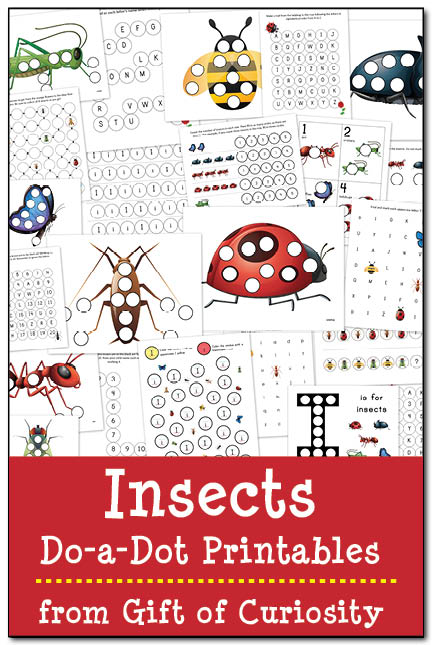 Insects Do a Dot Printables