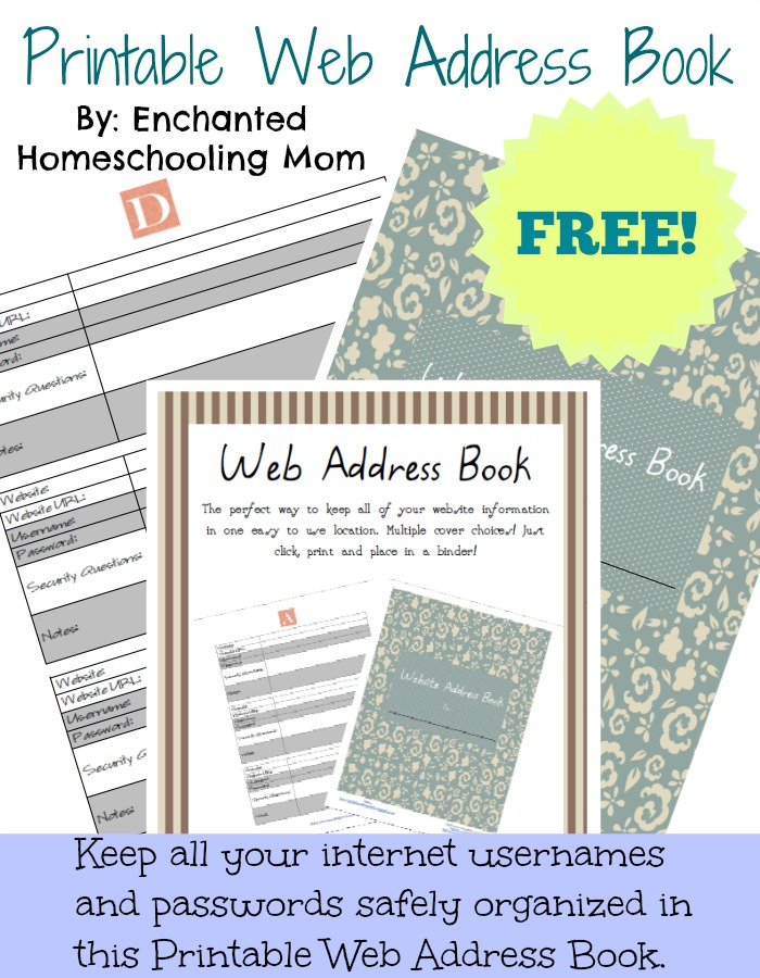 picture about Printable Address Book known as Totally free Printable Net Protect E book