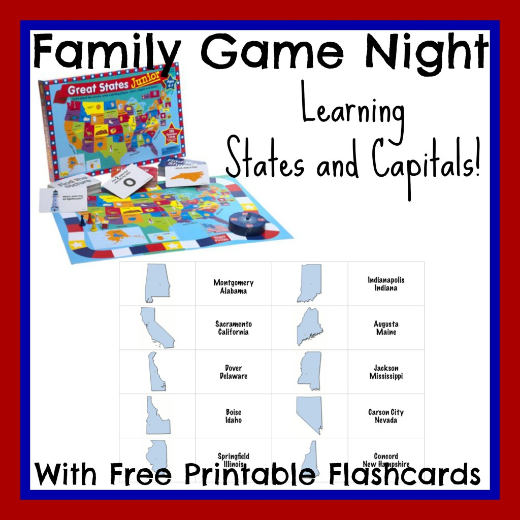 Free Learning States and Capitals Printable Flashcards | Free ...