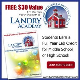 FREE Science Lab Manual – $30.00 Value ~ Expires 4-11-14 @ 11:59PM EST