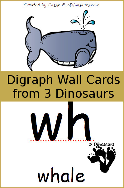 Free Digraph Wall Printable Cards