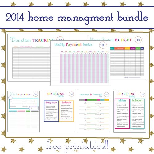 Free 2014 Home Management Binder Printables