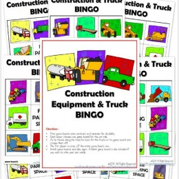 FREE Construction Equipment & Truck BINGO Pack (Instant Download!)