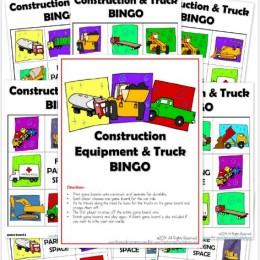 FREE Construction Equipment & Truck BINGO Pack (Instant Download!)
