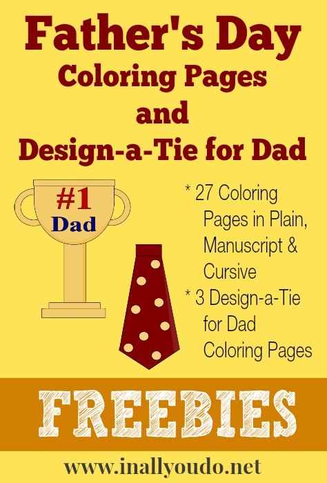 FREE Father 39 s Day Coloring Pages
