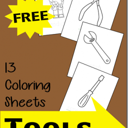 Free Coloring Sheets: Tools Themed {instant download!}
