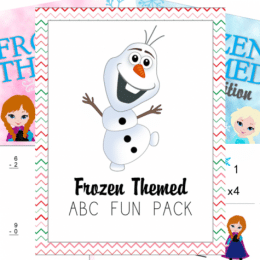 FREE Frozen ABC & Math Printable Packets ($5 Value!)