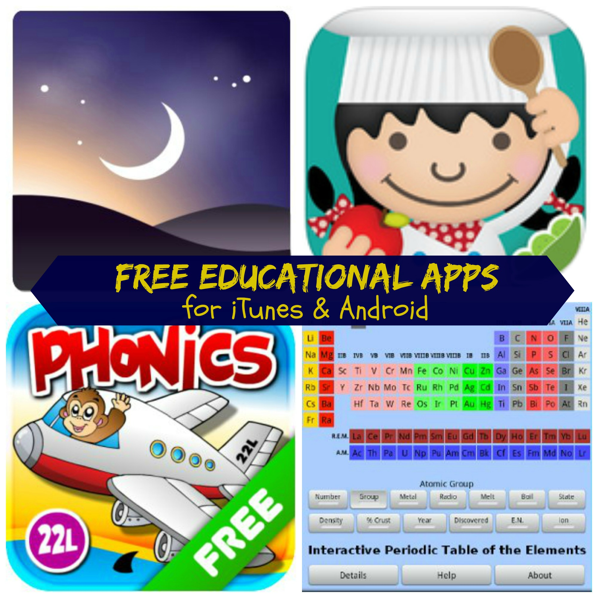free educational apps for android and itunes