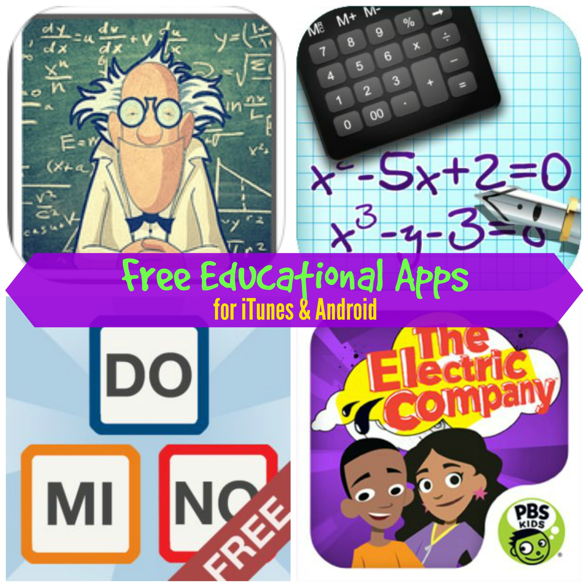Free Educational Apps for iTunes & Kindle