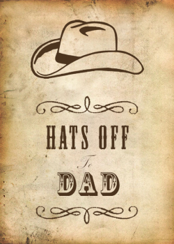 FREE Father's Day Cowboy Hat Printables