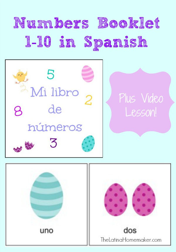 FREE Numbers in Spanish Video Lesson and Printables