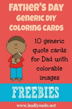Printables Father's Day Make-Your-Own Coloring Cards