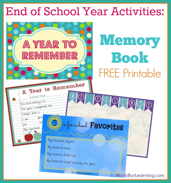 Free Printable Memory Book Pages