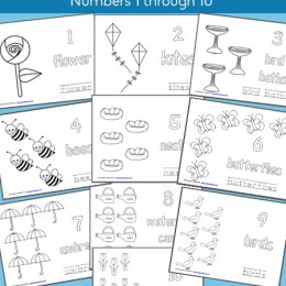 FREE Summer Coloring Pages: Numbers 1-10