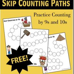 Free Skip Counting Worksheets Printables Set