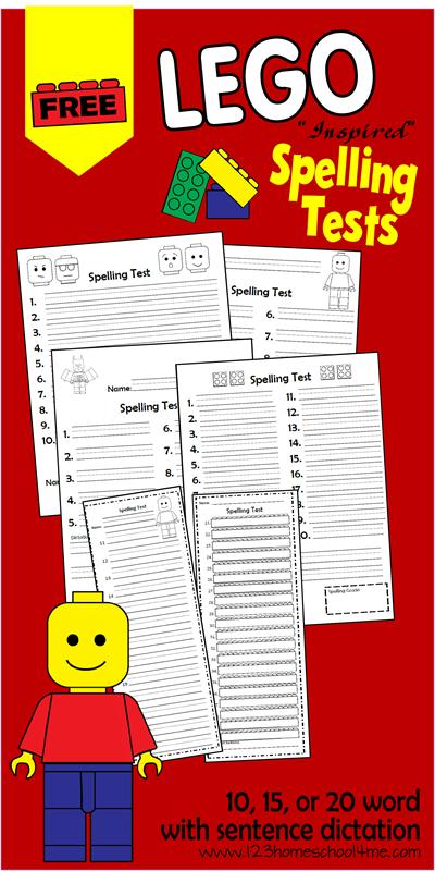 Number Names Worksheets free spelling worksheet : FREE Lego Spelling Test Printables and Blank Worksheets | Free ...