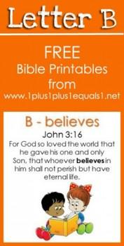 FREE Letter B Bible Verse Printables