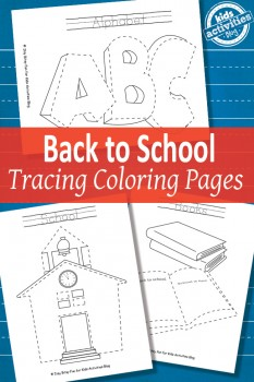 FREE Back to School Tracing Pages