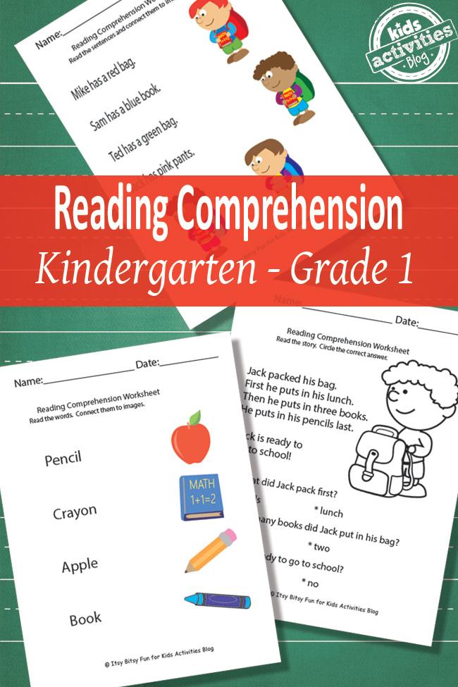 cap50 - Reading Comprehension Kindergarten Worksheets