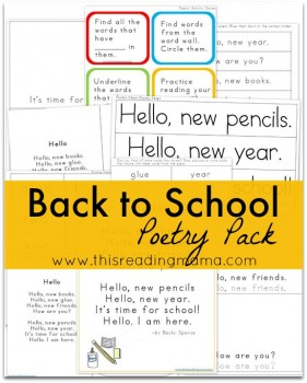 FREE Back to School Poetry Pack