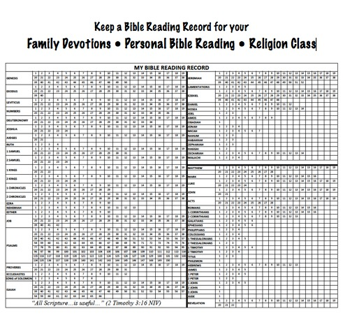 free my bible reading record printable