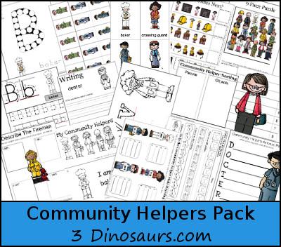 Free Community Helpers Printable Pack - 22+ Matching Community Helpers Worksheets For Kindergarten Pdf Images