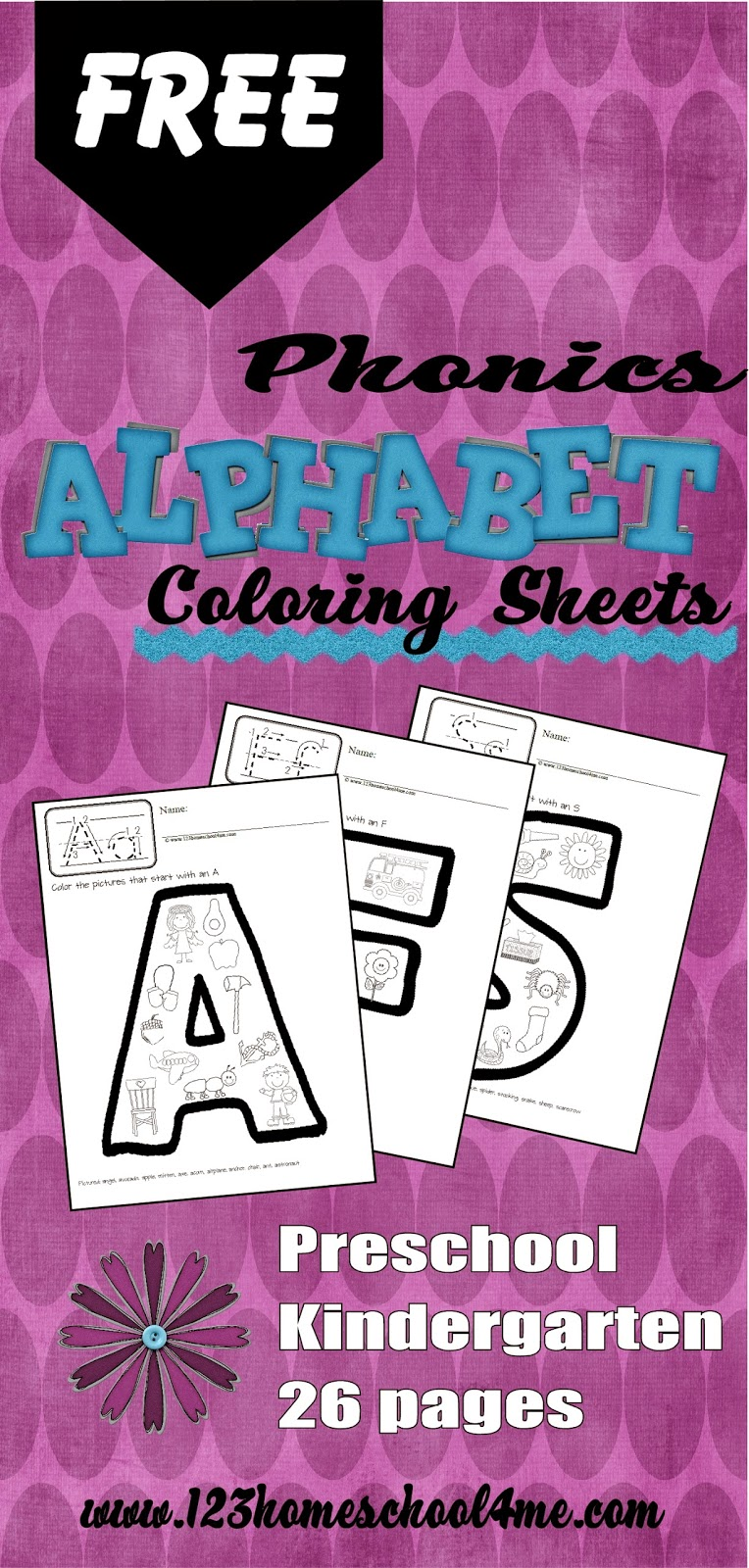 Phonics Alphabet Coloring Pages Freebie | Free Homeschool ...