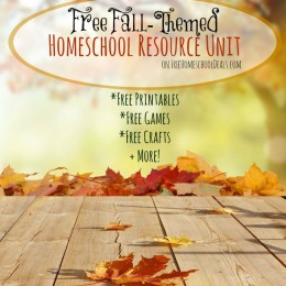 Free Fall Homeschool Resource Unit