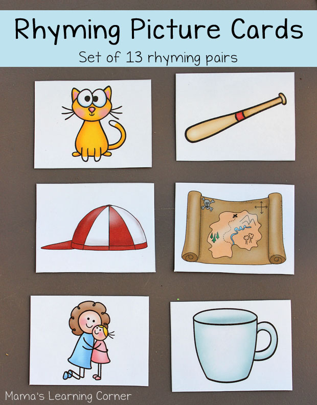 FREE Rhyming Picture Cards | Free Homeschool Deals