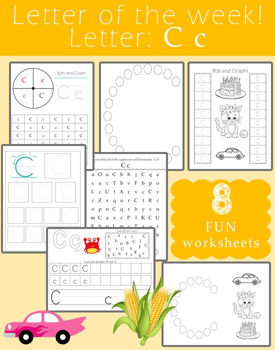 free 8 page pack of letter c worksheets. Black Bedroom Furniture Sets. Home Design Ideas