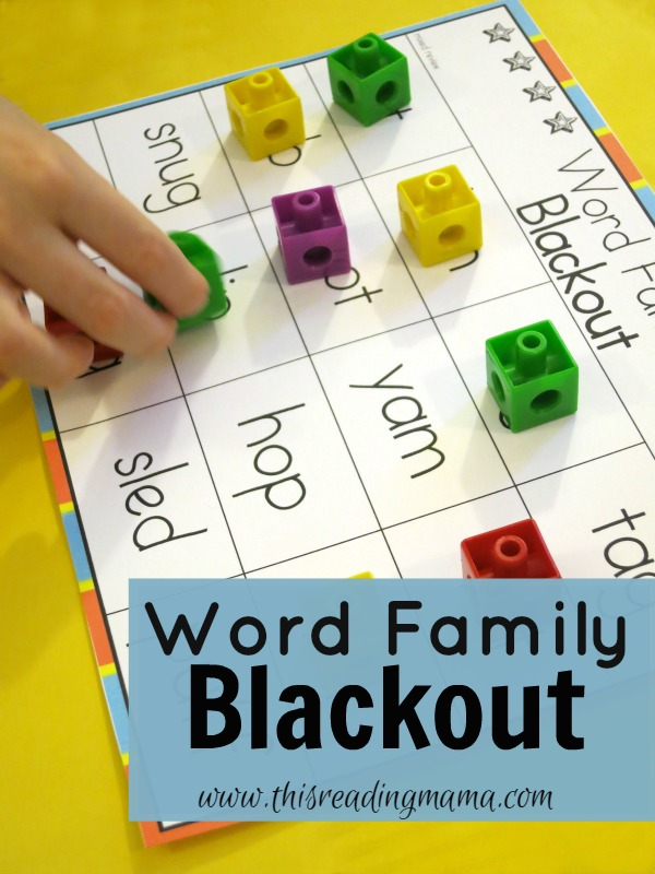 FREE Word Family Blackout 32 Page Pack   Free Homeschool ...